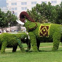 广东雕塑 仿真植物景观大象雕塑 拉丝玻璃钢雕塑