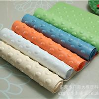 厂家直销环保无味大号浴室垫防滑垫 带吸盘浴室垫 天然橡胶垫