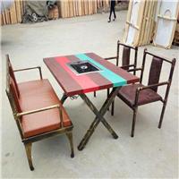 铁艺火锅餐桌椅组合|工业风火锅店餐桌椅厂家尺寸定制众美德