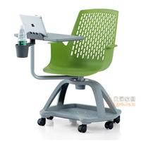 高档写字板培训椅 学生学习记录椅 多媒体可旋转课桌椅批发