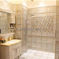 晶睿坊抛晶砖无限拼厨卫地板砖,镀金抛晶砖,镀金背景墙
