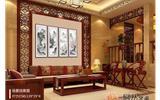 沙发背景墙挂画效果图推荐 不必富丽有心则文雅-背景墙图片80平米小户型