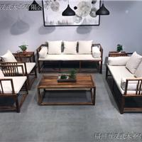 中式实木客厅组合沙发七件套茶几红木家具明清仿古