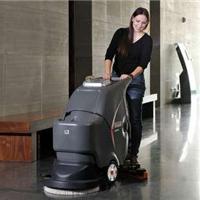 无锡工厂用电瓶式洗地机 高美手推式洗地机厂家
