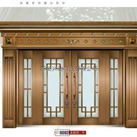 顶级别墅大门非标门准真铜玻璃拼接精品,加厚中档11.2公分