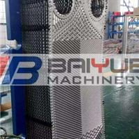 台州S41桑德克斯发动机油板式换热器316板片清洗