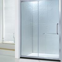 浴室门厂家 直销一固一移淋浴隔断门丝印加副窗浴屏R042