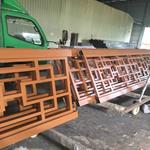 小区,别墅区专用的仿木纹铝合金窗花-广东德普龙厂家直销