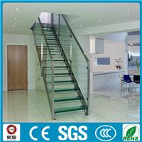 御迪楼梯 家居钢化玻璃直梁楼梯