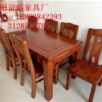 烟台莱阳实木餐桌 水曲柳餐桌 橡胶木餐桌