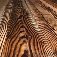 供应表面碳化木花旗碳化木刻纹木