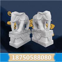 大象石雕花岗岩 大象雕像坐姿 栩栩如生