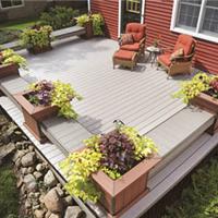 洛阳生态木塑木地板WPC环保再生木PVC长城板