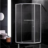 供应卫生间玻璃隔断淋浴门干湿分区免加盟