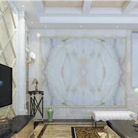 图一新型电视背景墙仿大理石UV板仿大理石