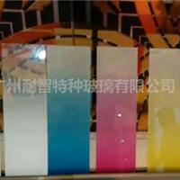艺术玻璃彩色渐变玻璃蒙砂渐变玻