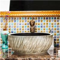 欧式仿古陶瓷艺术盆洗手盆中式复古洗脸盆