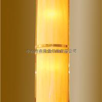 半圆形金色欧式酒店壁灯,透光石灯罩壁灯