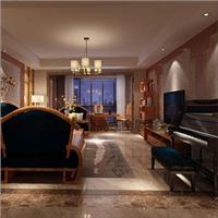 恒信福 竹木纤维集成墙面板 新中式风格客厅
