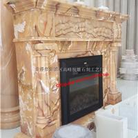 现货供应进口玉石雕刻壁炉架(可配电壁炉芯