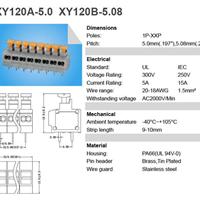 供应浙江宁波慈溪xy120a弹簧式焊线接线端子