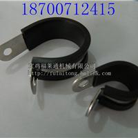 供应福莱通不锈钢R型单环线夹 套胶条管卡