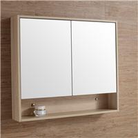 供应 对开门宜家风镜柜 挂柜实木浴室镜组合