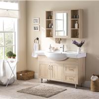 供应 落地式浴室柜组合实木洗漱台盆