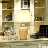 现代陶瓷铁艺布艺台灯