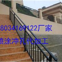 北京静电喷涂楼梯扶手消防楼梯锌钢楼梯厂家