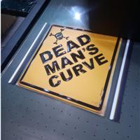 广告标识牌UV平板光油彩印机