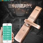 简舒指纹密码锁  远距离APP指纹密码锁互联网wifi智能锁 手码锁
