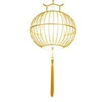 厂家生产定做中式鸟笼吊灯 铁艺金色餐厅创意吊灯